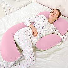 Novo 3kg PP Cotton comfort Pregnancy & Maternity Pillow, Pink - 175x80x25cm
