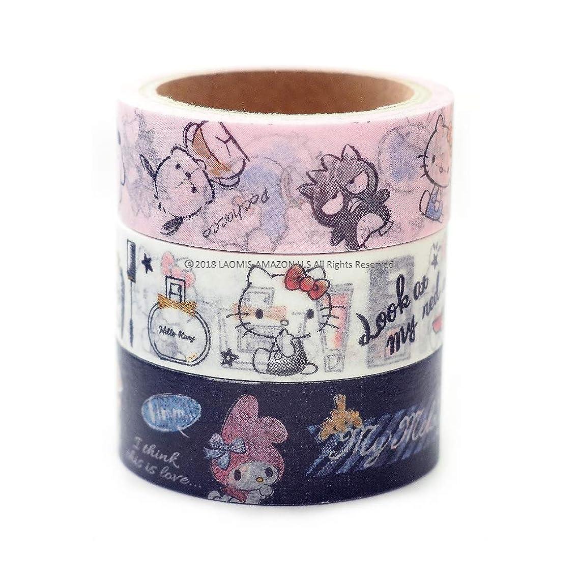 Japanese Sanrio Hello Kitty My Melody Masking Washi Tape/Set of 3 [ 06897 ] ncacovh27
