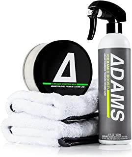 Adam's Ceramic Coating Paste Wax - Legit Ceramic Coating Wax - First Ever Cmic Paste Wax - Ceramic SiO2 Infused Wax - The Most Technologically Advanced Paste Wax in Car Care (Complete Kit)