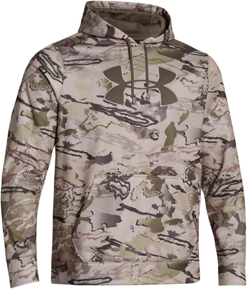 Mens Camo Big Logo Fleece Top Under Armour