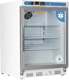 am-1 AM-LAB-1D-RGP-10 MedLab Premium Glass Door 10.5 cu ft White Medical//Laboratory Refrigerator