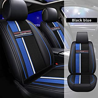 Sponsored Ad - All Weather Custom Car Seat Covers for BMW Most Car Models 5-Seat Full Protection Ultra Comfort Black & Blu...