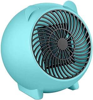 FXQIN Calefactor De Rápido Calentamiento con Potencia Regulable De 500W, Calefactor Eléctrico, Portatil Ventilador Calentador Estufa De PTC Cerámica, para Espacio Pequeño, Dormitorio, Oficina,Euplug