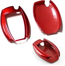 iJDMTOY (1 Exact Fit Gloss Smart Remote Key Fob Shell for Mercedes-Benz C E S M CLS CLK GLK GL Class, etc Red AA3109-Red