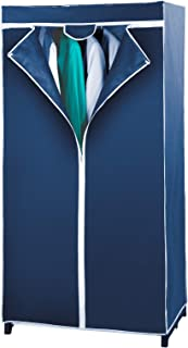 WENKO Armoire-penderie Air - toison respirante, Polypropylène, 75 x 150 x 50 cm, Bleu