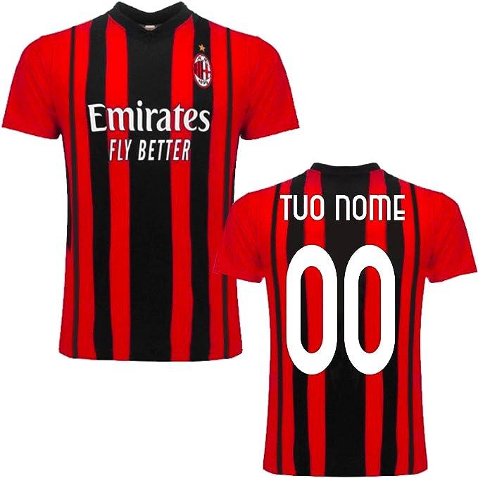 """Maglia Replica Home ROSSONERA CASA Ufficiale """"Nome Numero Personalizzato Personalizzabile"""" AC Milan 2021/2022 (Ibrahimovic, KESSIE, Theo, LEAO, ..."""