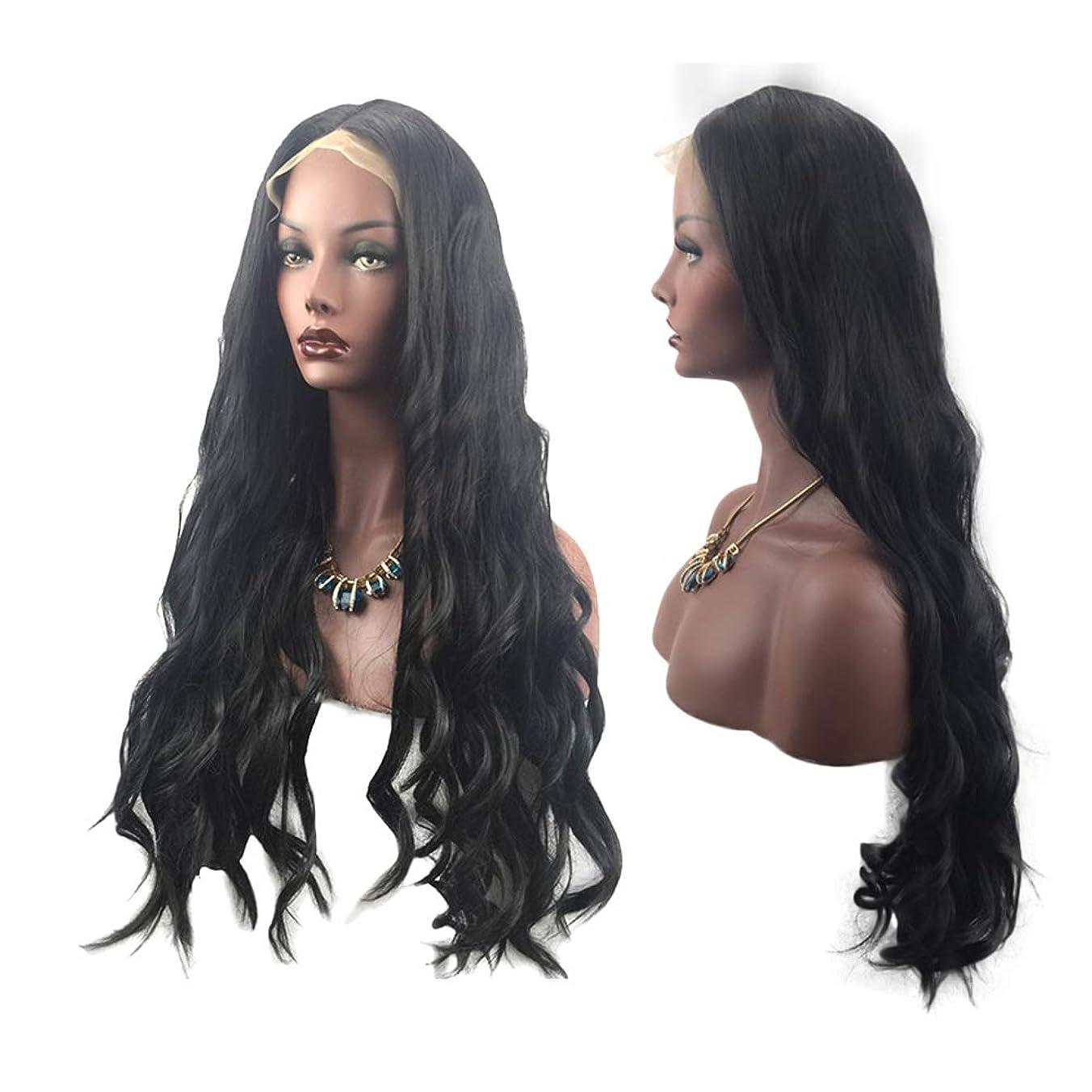 プロフィールホールド上記の頭と肩女性の長い巻き毛のファッション髪かつら自然に見える絶妙な弾性ネットかつらカバー(LS-019)