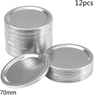 Split-Type Lids Reusable Leak Proof Storage Solid Caps Stainless Steel Canning Jar Lids Compatible with Wide Mouth Mason J...