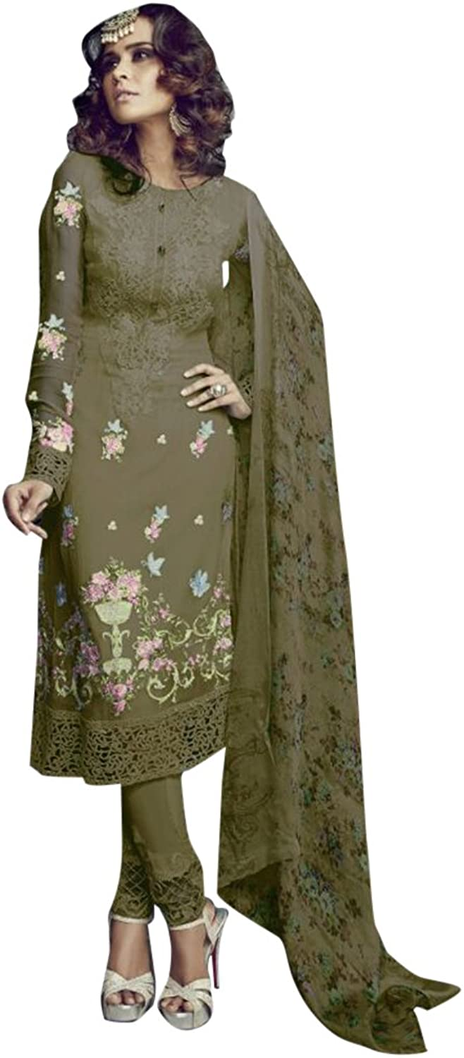 Bollywood Collection of Straight Salwar kameez Suit Dupatta Party Muslim 944 2520