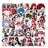 Recold 100PCS High School DxD Stickers Anime Sexy Girl Stickers for Kids Teens Adults Vinyl Waterproof Stickers for Water Bottles Luggage Laptop Skateboard