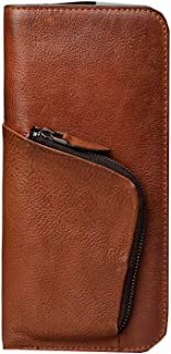 YINJIESHANGMAO High Quality Leather Zip Wallet, Clutch, Big Travel Wallet Handbag, Credit Card Package, Best Gift Light Weight (Color : Brown, Size : 21 * 10cm)