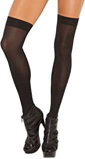 Elegant Moments Women's Opaque Thigh Hi