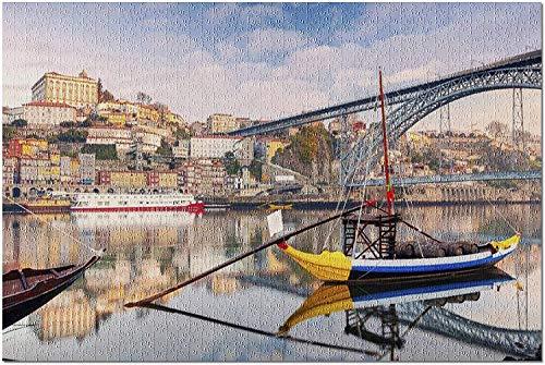 Oporto, Portugal   Amanecer en el río Duero 9032577 (Rompecabezas premium de 1000 piezas para adultos y familias, 19 x 27)