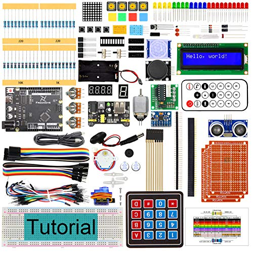 Freenove Ultimate Starter Kit with Board V4 (Compatible with Arduino IDE), 273 Pages Detailed Tutorial, 217 Items, 51 Projects, Learn Programming and Electronics