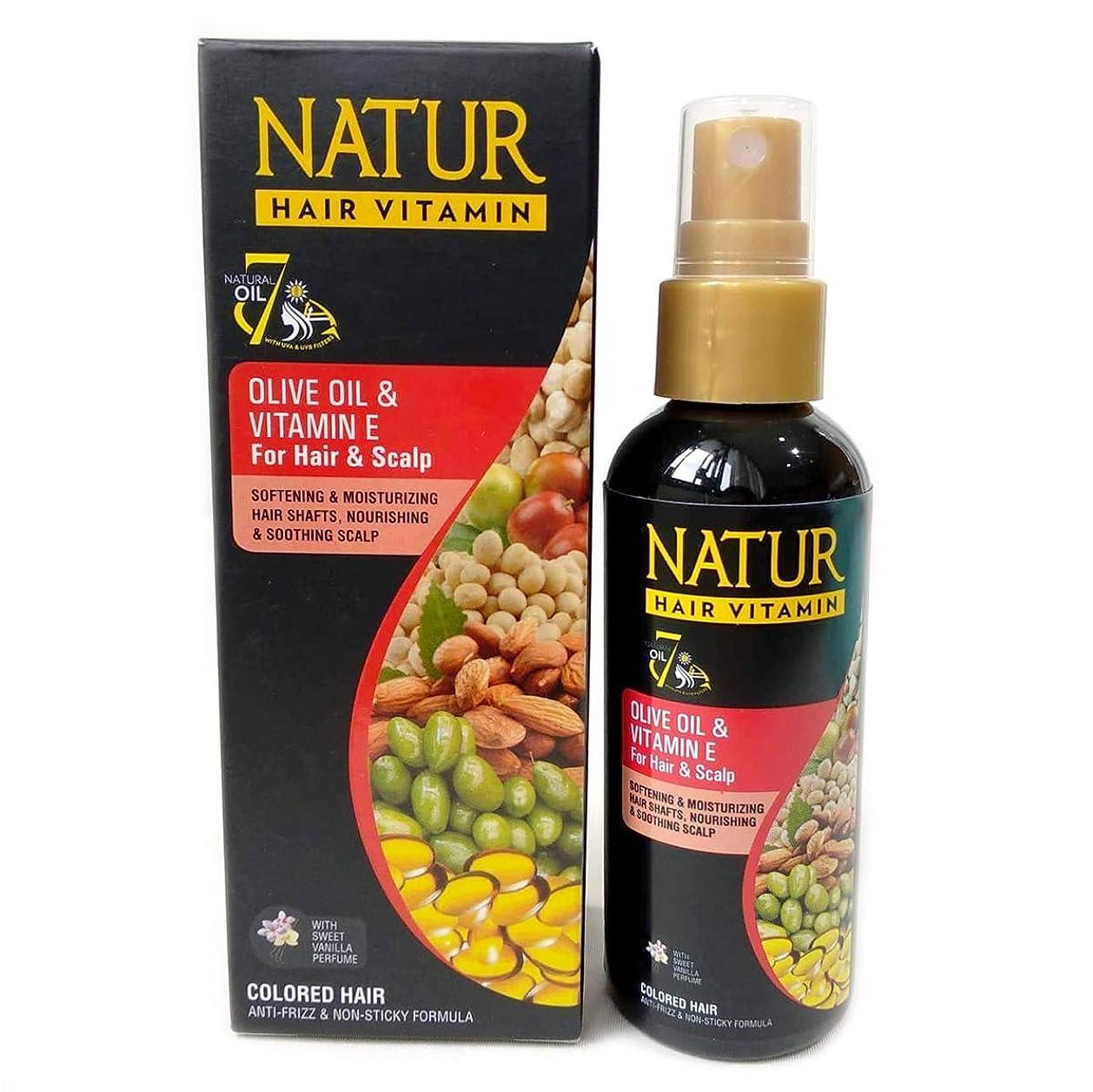 即席セミナーコントロールNATUR ナトゥール 天然植物エキス配合 Hair Vitamin ハーバルヘアビタミン 80ml Olive oil&Vitamin E オリーブオイル&ビタミンE [海外直商品]
