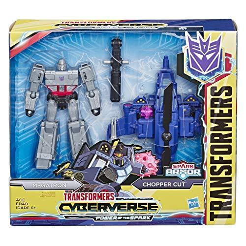 Transformers Cyberverse - Megatron Spark Armor - Si Combina con Il Veicolo Chopper Cut Spark Armor per Potenziarsi - dai 6 Anni in Poi, 14,5-Cm