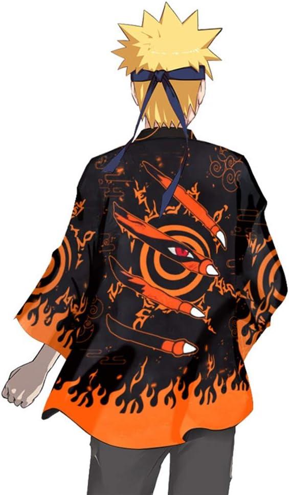 Sweet/&rro17 Naruto Shippuden Kimono Sasuke Haori Chiffon Jacke Anime Kost/üm Uzumaki Naruto