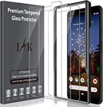 LK [3 Pack] Screen Protector for Google Pixel 3a XL, TemperedGlass[Frame-Installation] [HD Clear] [Anti-Scratch] with LifetimeReplacementWarranty