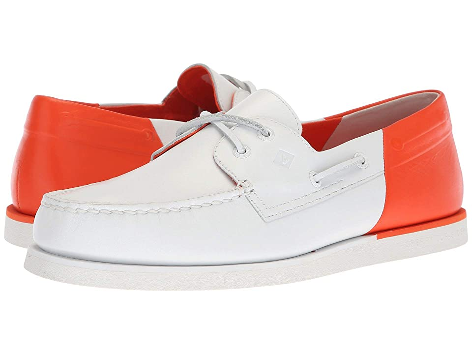 Sperry A/O 2-Eye Stern (White/Orange) Men