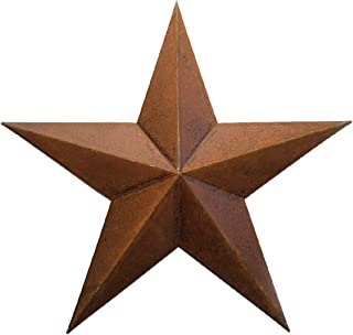 RUSTY METAL TIN BARN STAR 24 -rustic primitive country indoor outdoor Christmas home decor. Interior exterior metal decorations look great hanging on house walls fence porch patio. Quality gift 24
