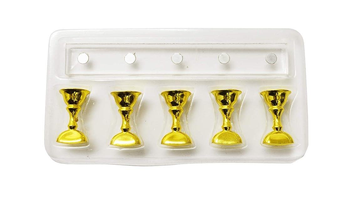 差別的扇動するトン長方形クリスタルチップスタンド 5本ジグセット (ゴールド)