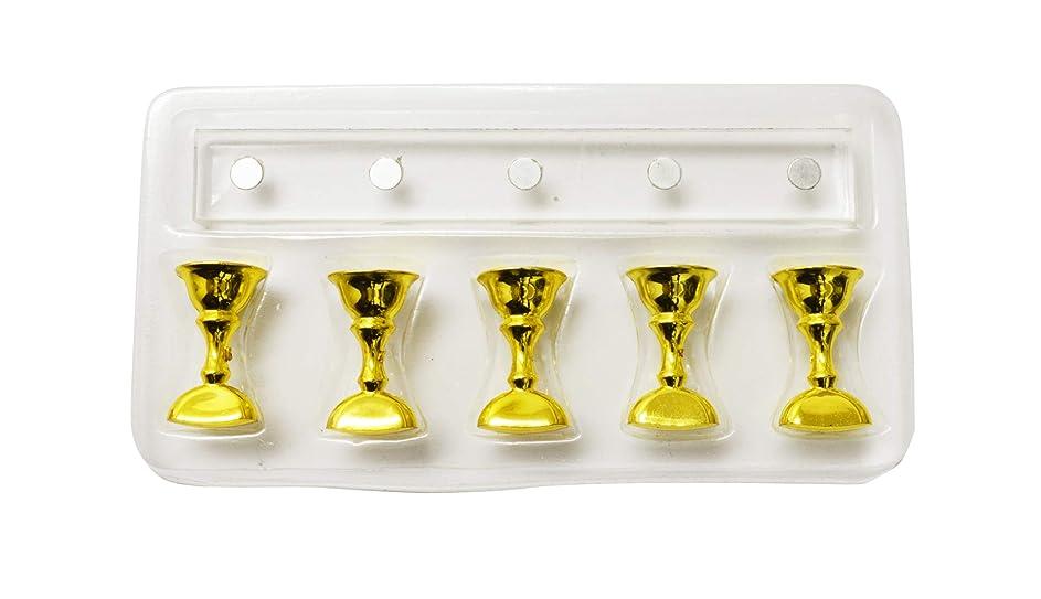 不定動的公演長方形クリスタルチップスタンド 5本ジグセット (ゴールド)