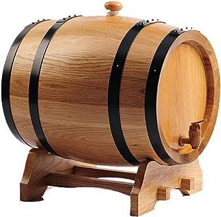 Tonneau de vin, Distributeur en bois Demijon de 5 litres en fût de chêne pour le stockage ou le vieillissement des vins et...