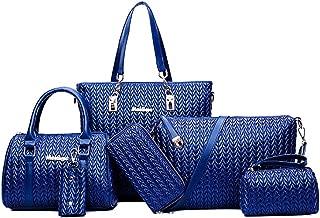 Women Designer Pureses And Handbags Set Satchel Shoulder Bags Tote Bags 6pcs Wallets