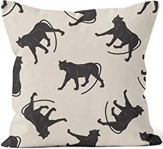 Nine City Pattern Black Panther Art Creative Modern Vector of a Light Throw Pillow Cover,HD Printing for Sofa Couch Car Bedroom Living Room Decor,36