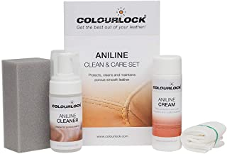 COLOURLOCK Aniline Leather Cleaning and Care Kit to protect and waterproof aniline, waxed, oily or pull up leathers on fur...