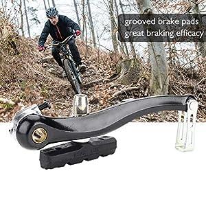 Alomejor 1 par V-Brake Set con Zapatas de Freno Bicicleta de montaña Tirón Recto Mecánico Dual-Pivot Juego de Frenos Repuestos Accesorios