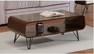 18x42x20 Rectangular Scratch And Mar Resistant Walnut Finish Astro Mid Century Coffee Table