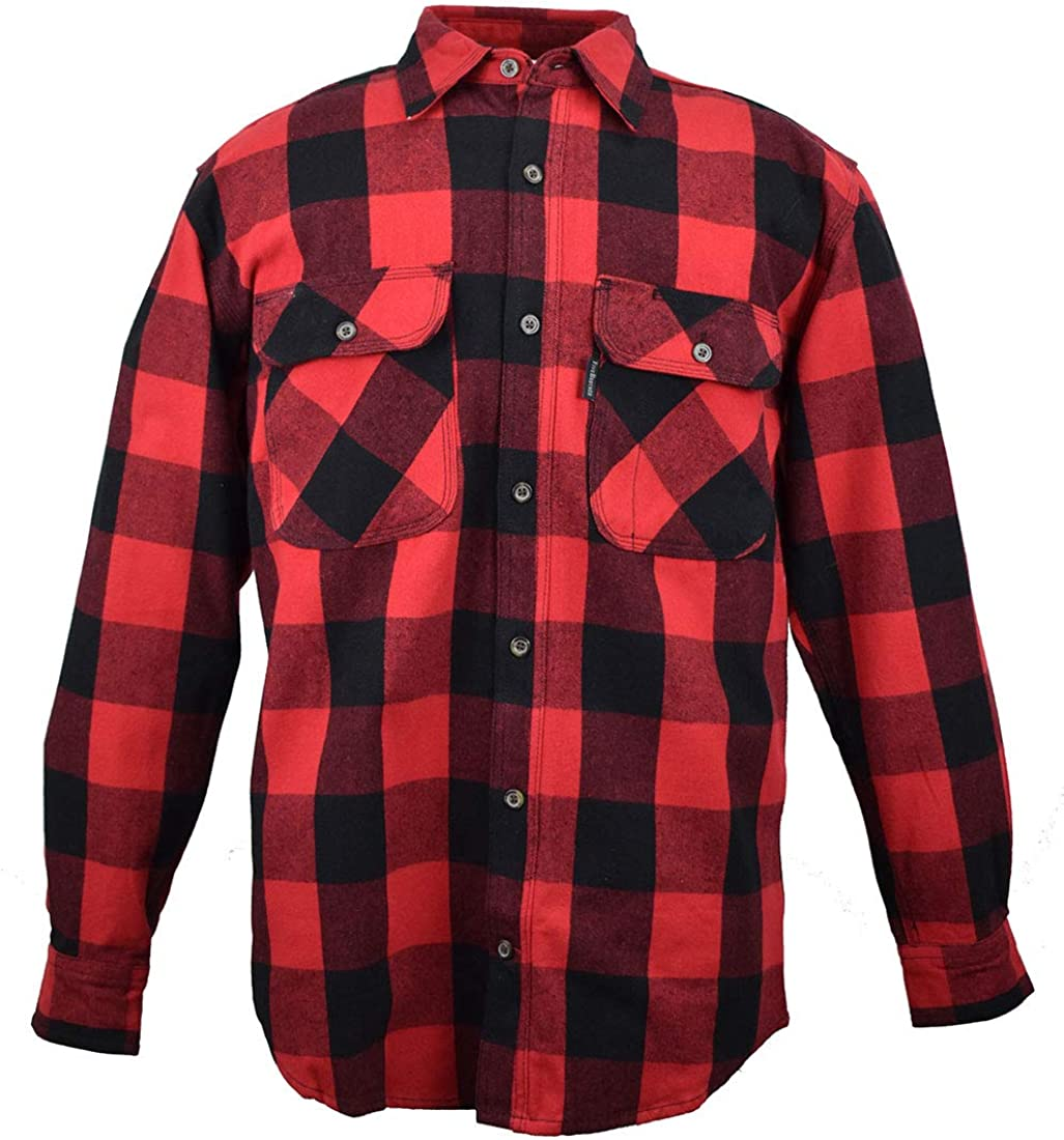 Five Brother Men's Heavyweight Flannel Shirt, Big and Tall