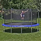 Skywalker Skywalker Trampolines 14-ft. Round Trampoline with Enclosure -, Blue, Polyethylene, 14 ft.