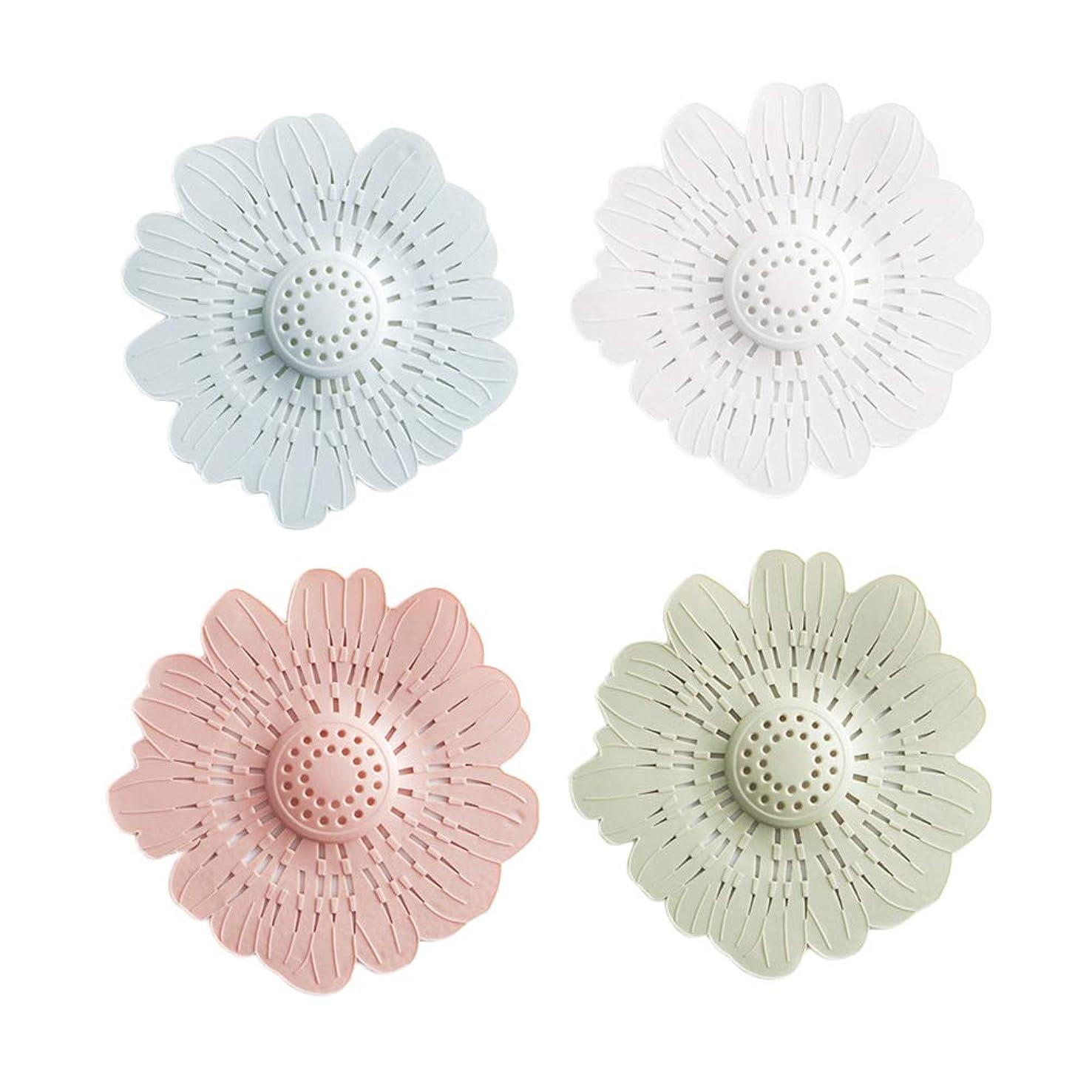 ずらすケント慢TOPBATHYフロアドレンヘアキャッチャーホームキッチンアクセサリー花の形4本
