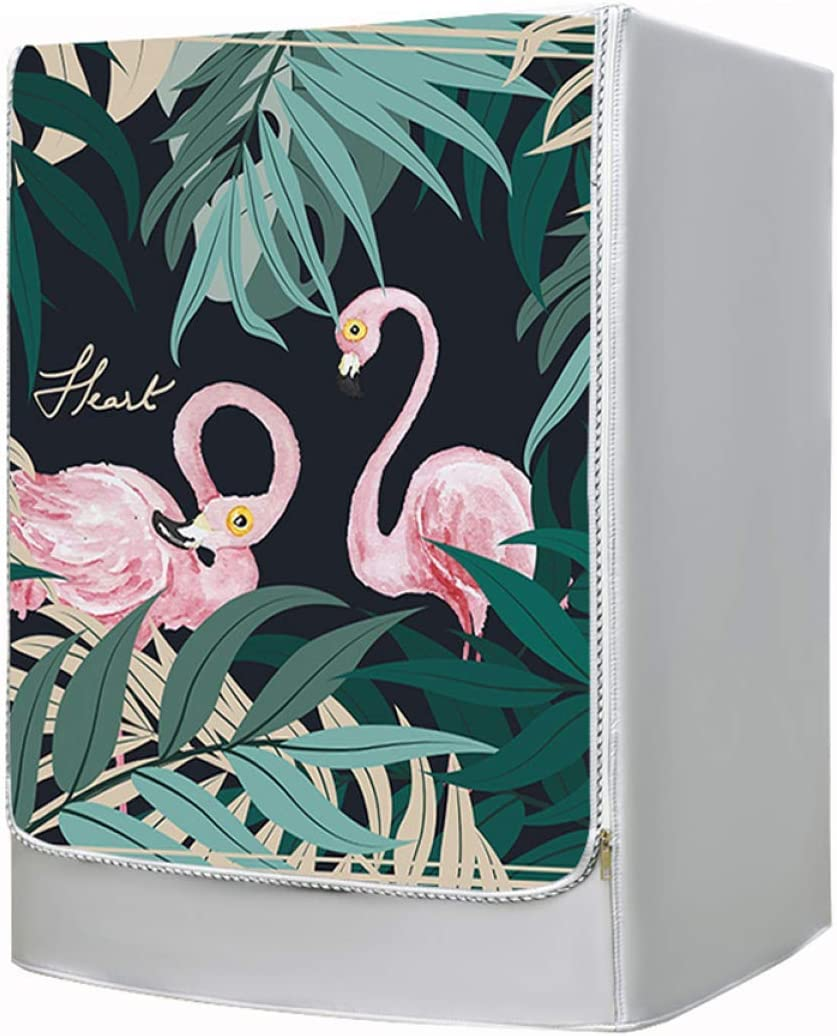 Waterproof Washing Machine Cover,Oxford Cloth Waterproof Sun Protection Nordic Style Flamingo Pattern Suitable for Front Open Drum Washing Machine Dryer