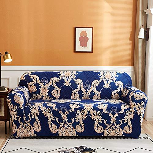 HXTSWGS Fundas de sofá elásticas,Fundas Protectoras de sofá Impresas, para Sala de Estar Funda elástica elástica, Fundas seccionales de sofá de Esquina-Color 10_3-plazas 190-230cm