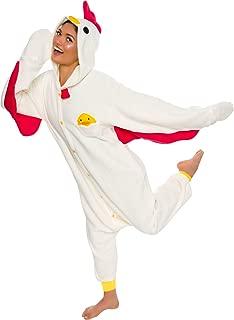 Unisex Adult Pajamas - Plush One Piece Cosplay Chicken Animal Costume