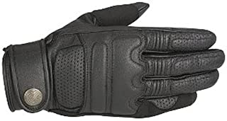 Alpinestars Robinson Leather Motorcycle Glove - Black - Medium