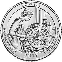 2019 P BU Lowell National Historical Park Lowell Massachusetts National Park NP Quarter Choice Uncirculated US Mint