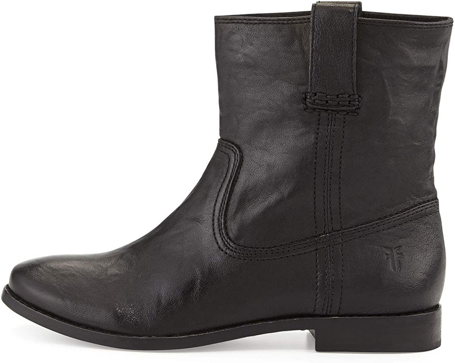 Frye Anna Short Ankle Boots, Black Leather