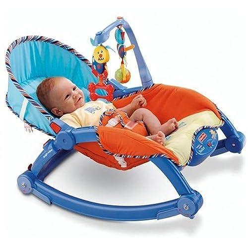 Webby Newborn to Toddler Portable Rocker, Multi Color