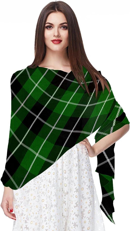 Scarfs for Women Lightweight Fashion Scarves Print Floral Pattern Scarf Shawl Wraps, Tartan Plaid Pattern Checkered