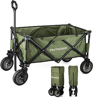 Homezest Gbasics キャリーカート ワンタッチ収束式 タイヤロック付き 全パーツ交換&カスタム 丸洗い可 軽量 120L大容量 耐荷重100KGマルチキャリーワゴン コンパクト