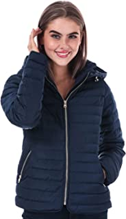 Tokyo Laundry Womens Ginger Hooded Jacket in Peacoat Blue.