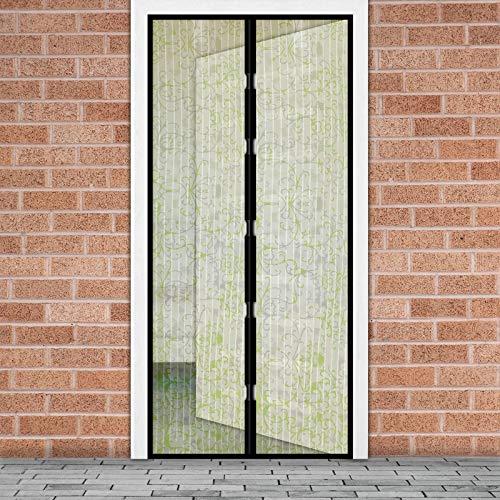 EKNA Mosquitera para puerta de balcón sin taladrar, mosquitera para puerta con imanes – Mosquitera para la terraza exterior 100 cm x 210 cm (flores)