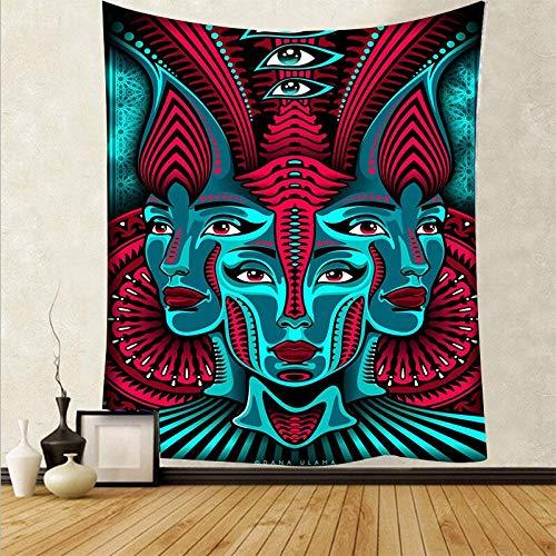 Arte psicodélico tela colgante decoración del hogar tapiz dormitorio dormitorio revestimiento de paredes tela de fondo abstracto a7 180x200 cm