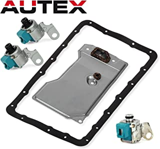 AUTEX A340E A340F Transmission Master Shift TCC Lock Up Solenoid & Filter Gasket Kit Compatible With Jeep Comanche 90 91 92 /Jeep Grand Cherokee 91 92 93/Jeep Wagoneer 87-93/Jeep Cherokee 87-01