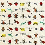 オックス 生地 昆虫のなかま 50cm単位販売 布 綿