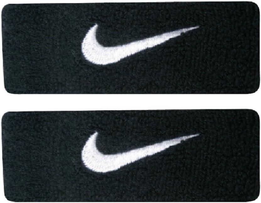 Lugar de nacimiento Boda bádminton  Amazon.com: Nike Swoosh Bicep Bands (Black/White, Osfm): Sports & Outdoors